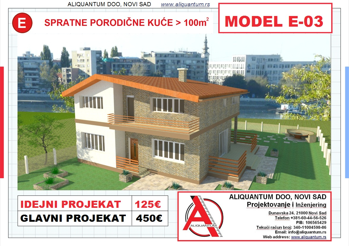 MODEL E-3, gotovi projekti vec od 50e, projekti, projektovanje, izrada projekata,  house design, house ideas, house plans, interior design plans, house designs, house