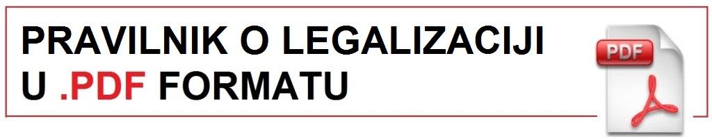 Pravilnik o legalizaciji u PDF formatu