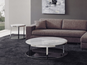 Excellent-design-of-indoor-furniture-ideas-with-round-marble-coffee-table-on-nice-soft-rug-in-front-of-cool-sofa-plus-side-table