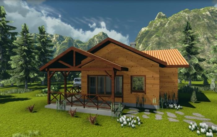 AQ projekat – Interesantni prizemni model kuće od drveta