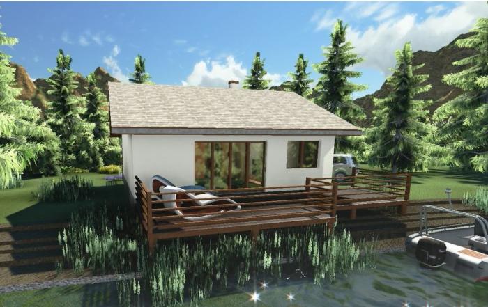 AQ Projekat – Prizemna kuća za odmor pored reke