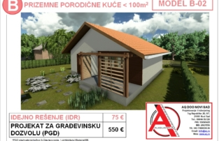 MODEL B-02, gotovi projekti vec od 50e, projekti, projektovanje, izrada projekata, house design, house ideas, house plans, interior design plans, house designs, house