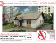 MODEL B-03B, gotovi projekti vec od 50e, projekti, projektovanje, izrada projekata, house design, house ideas, house plans, interior design plans, house designs, house