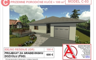MODEL C-03, gotovi projekti vec od 50e, projekti, projektovanje, izrada projekata, house design, house ideas, house plans, interior design plans, house designs, house
