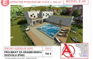 MODEL E-05, gotovi projekti vec od 50e, projekti, projektovanje, izrada projekata, house design, house ideas, house plans, interior design plans, house designs, house