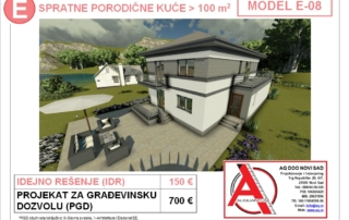 MODEL E-08, gotovi projekti vec od 50e, projekti, projektovanje, izrada projekata, house design, house ideas, house plans, interior design plans, house designs, house