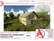 MODEL E-27A, gotovi projekti vec od 50e, projekti, projektovanje, izrada projekata, house design, house ideas, house plans, interior design plans, house designs, house