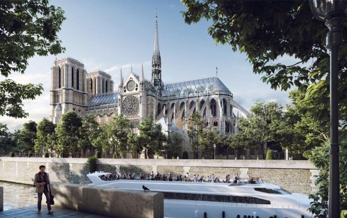 """""""Notre-Dame"""" sa staklenim krovom"""
