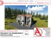 MODEL E-33, gotovi projekti vec od 50e, projekti, projektovanje, izrada projekata, house design, house ideas, house plans, interior design plans, house designs, house